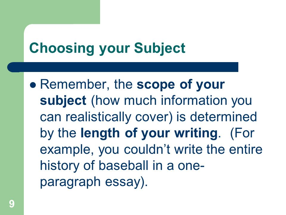 the writing process prewriting ppt video online  9 choosing
