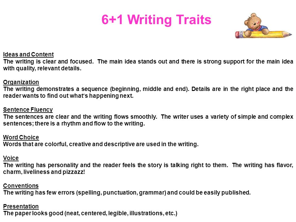 the 61 traits of writing