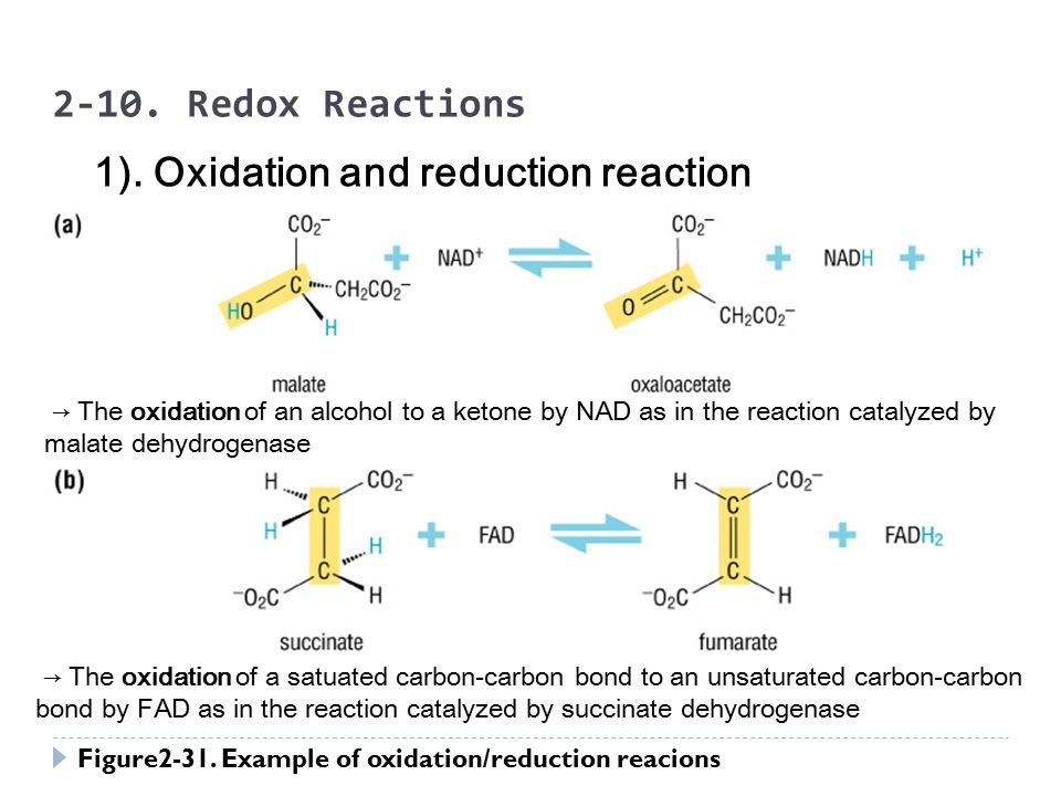 """oxidation and reduction reactions the reactions Oxidation-reduction reactions (also called """"redox"""" reactions) are reactions that  involve a shift of electrons between reactants oxidation is complete or partial."""