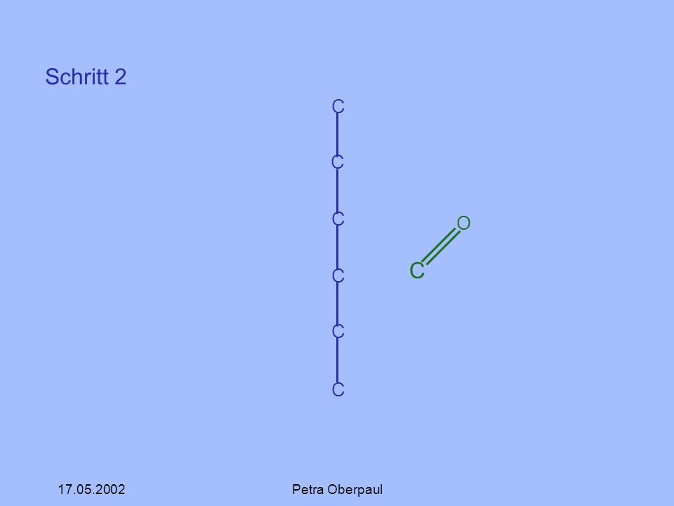 Schritt 2 C O C 17.05.2002 Petra Oberpaul