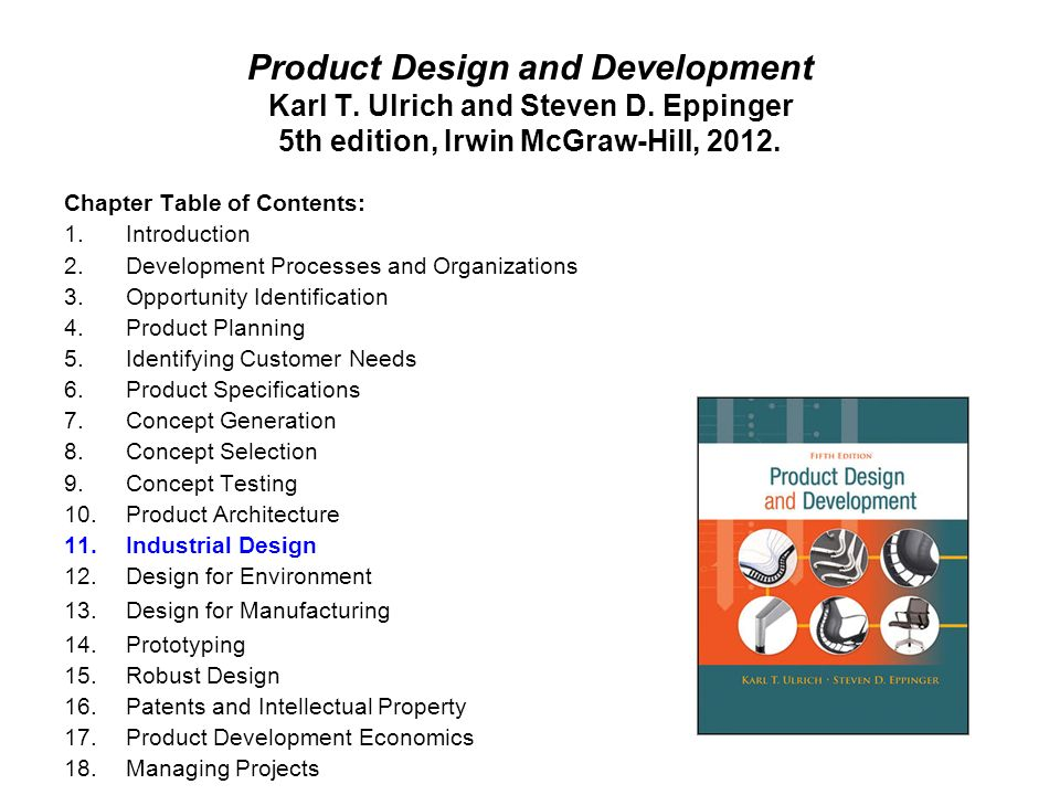 Product development specifications