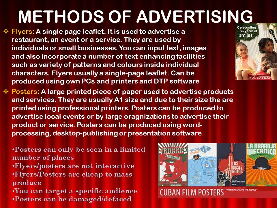 how to advertise with flyers