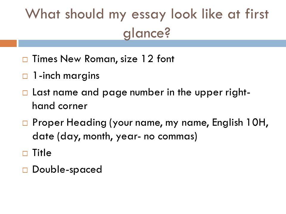 mla format english essay