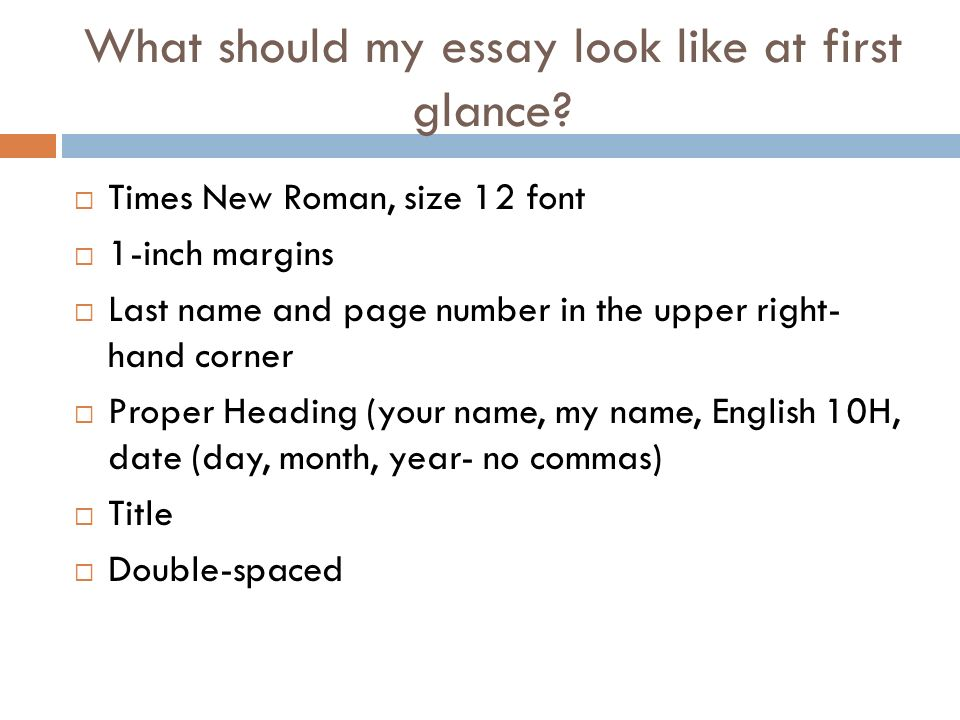 What should be font in essay