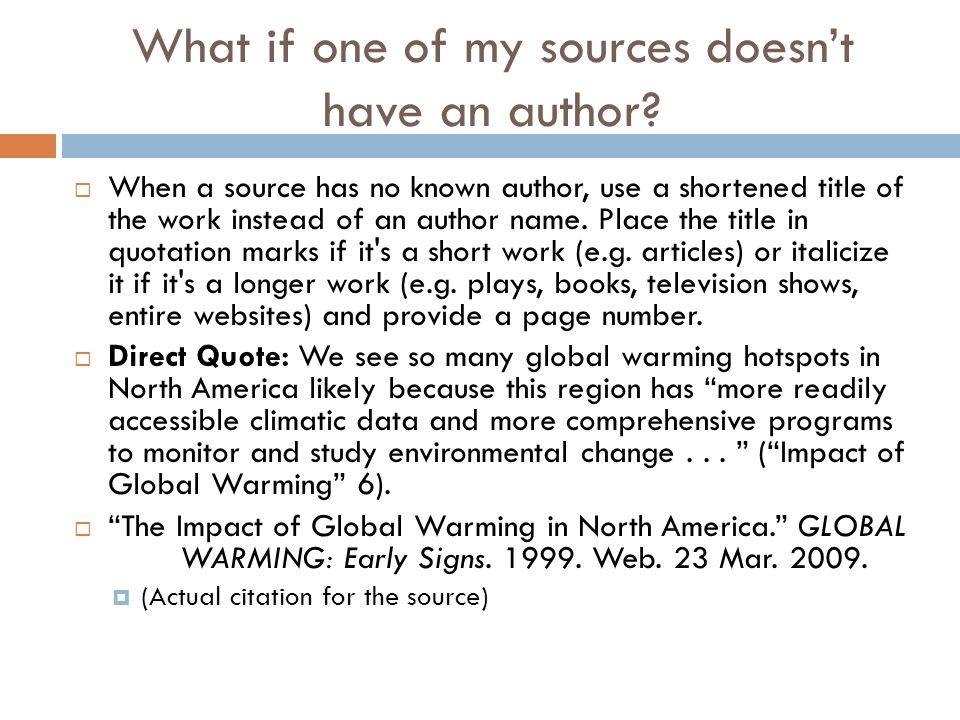 how do you cite a website in an essay with no author