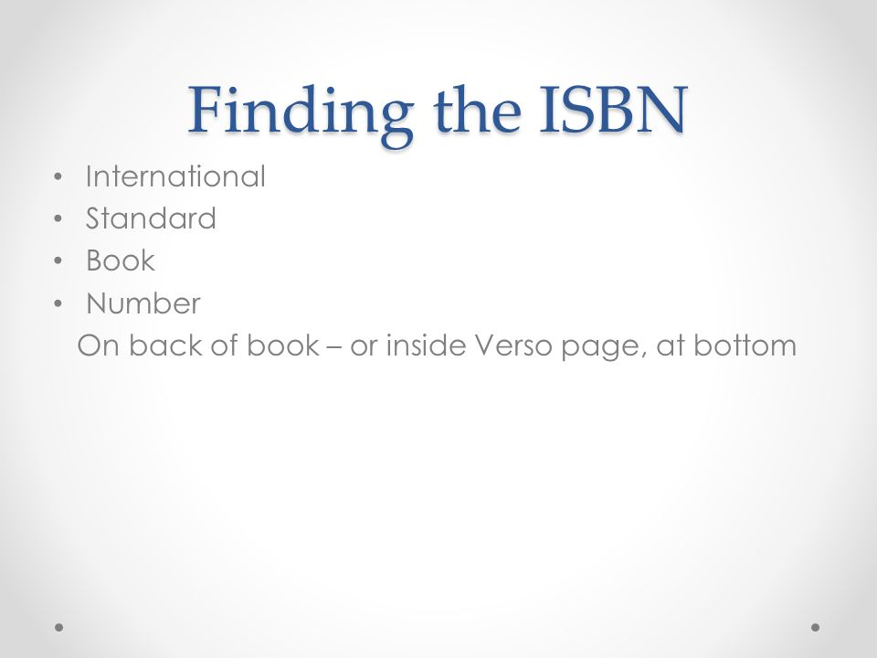 how to find isbn number online
