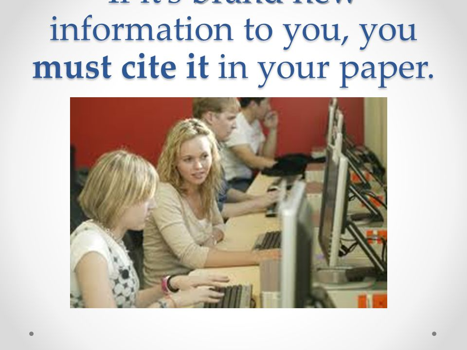 what information must be cited in a research paper Start studying writing a works cited page learn read the passage from a student research paper research paper which error must be corrected to follow mla.