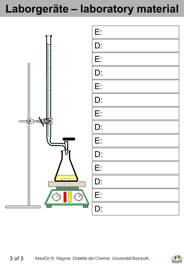 Laborgeräte – laboratory material