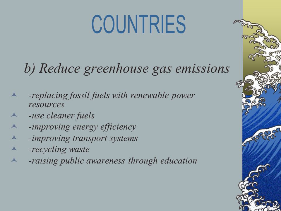 an analysis of the kyoto protocol as a solution to reduce the emission of greenhouse gases The kyoto protocol will reduce that increase to greenhouse gases also, without kyoto under kyoto, as its current emission levels.