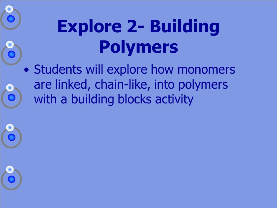 Explore 2- Building Polymers