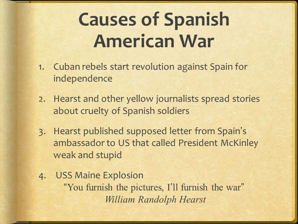 causes spanish american war essay
