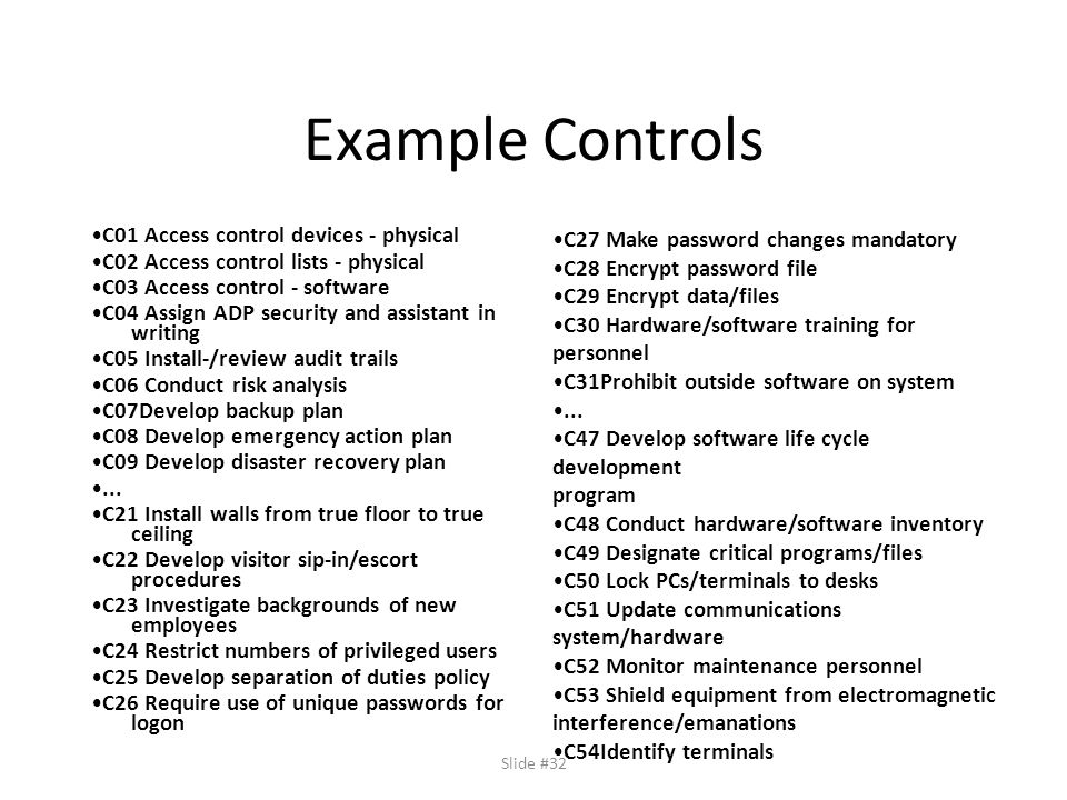 Policies risk analysis ppt video online download for Access control policy template