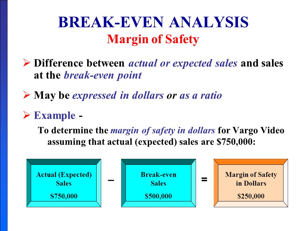 objectives of break even analysis A break-even analysis is a key part of any good business plan it can also be helpful even before you decide to write a business plan, when you're trying to figure out if an idea is worth pursuing long after your company is up and running, it can remain helpful as a way to figure out the best pricing structure for your products.