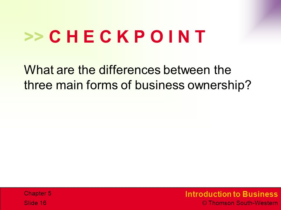 business organization checkpoint Week two checkpoint: business organization resource: ch 2 of introduction to business describe a business scenario, either real or fictional, that depicts each of the followingforms of business organization: joint-stock companyo limited liability companyo partnershipo sole proprietorship your response should be 200-300 words in.