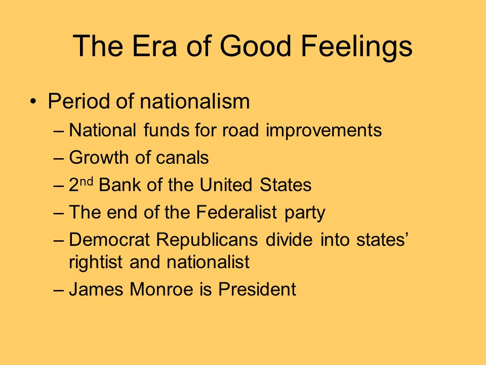 23a. The Era of Good Feelings and the Two-Party System