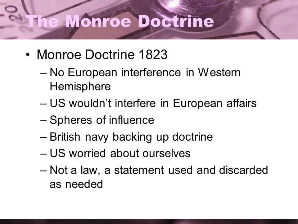 thesis statement for the monroe doctrine
