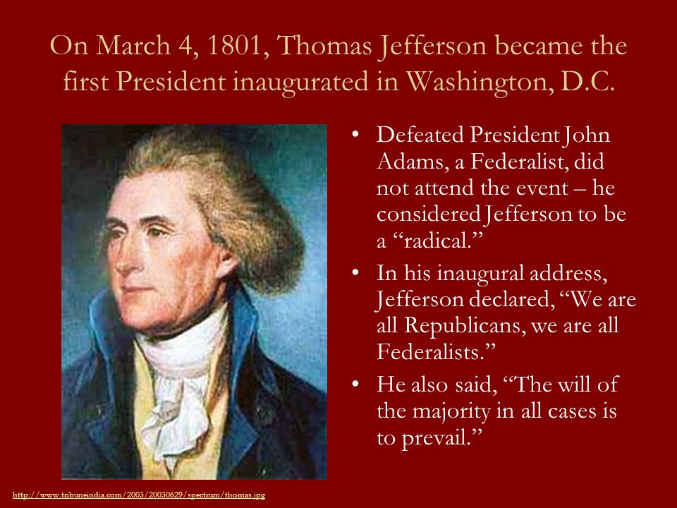 an analysis of thomas jeffersons presidency Thomas jefferson and the declaration of independence h wwwuscisgov  free, president, states delaware, united states  • n about thomas jefferson and the.