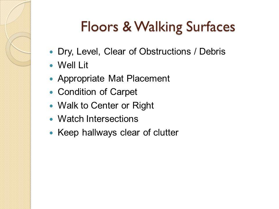 Floors & Walking Surfaces