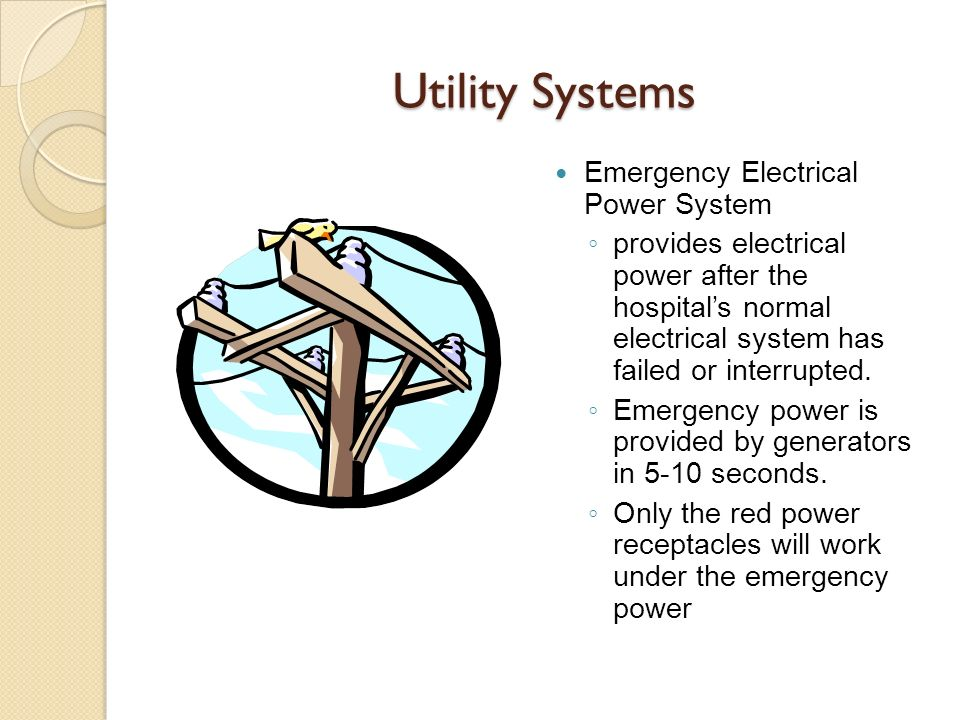Utility Systems Emergency Electrical Power System