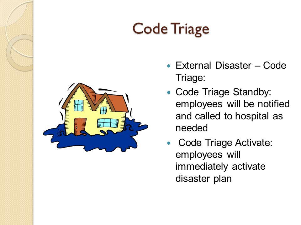 Code Triage External Disaster – Code Triage: