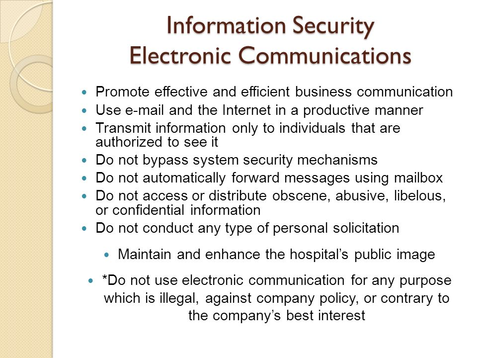 Information Security Electronic Communications