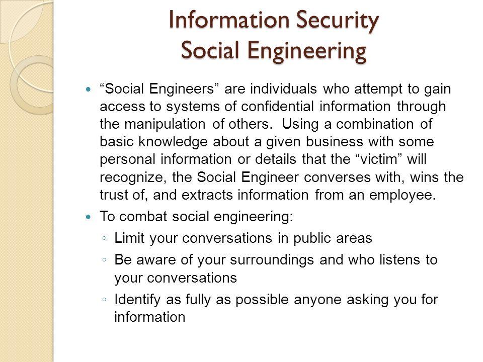 Information Security Social Engineering
