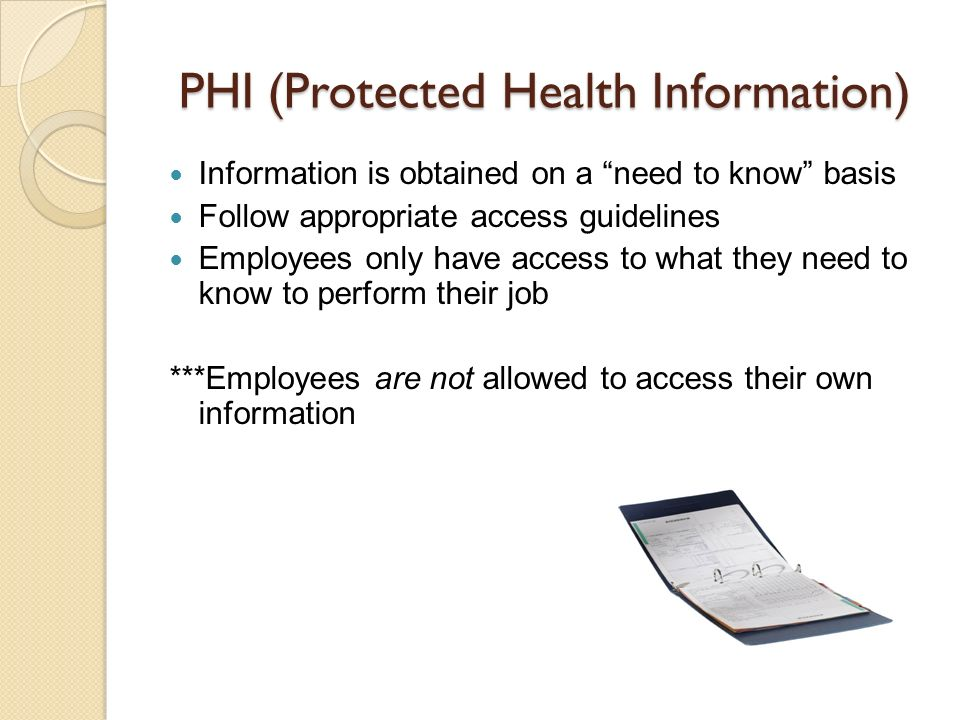 PHI (Protected Health Information)
