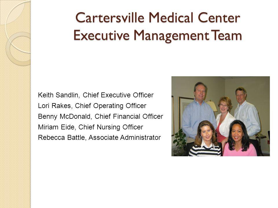 Cartersville Medical Center Executive Management Team