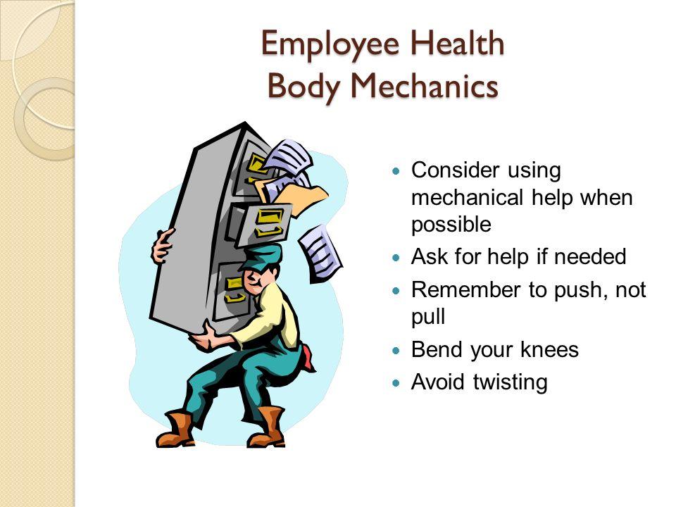 Employee Health Body Mechanics