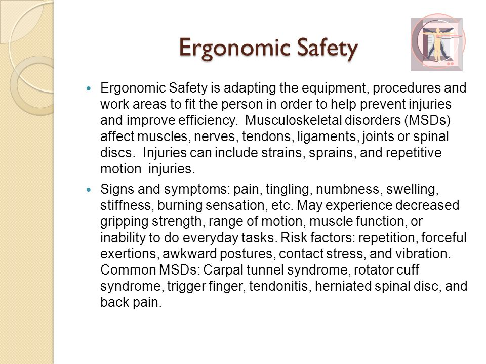 Ergonomic Safety