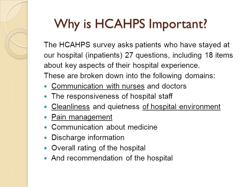 Why is HCAHPS Important