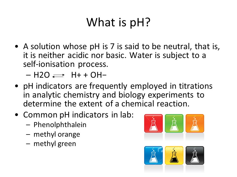 A lab experiment to determine the ph of solutions using indicators
