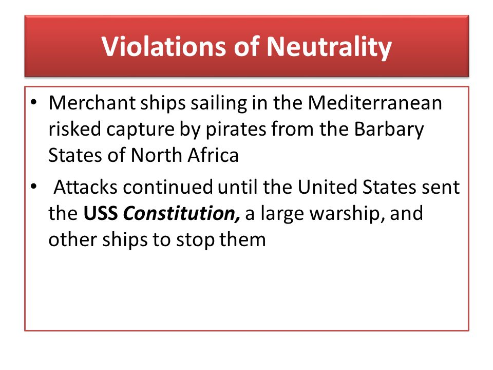 Violations of Neutrality