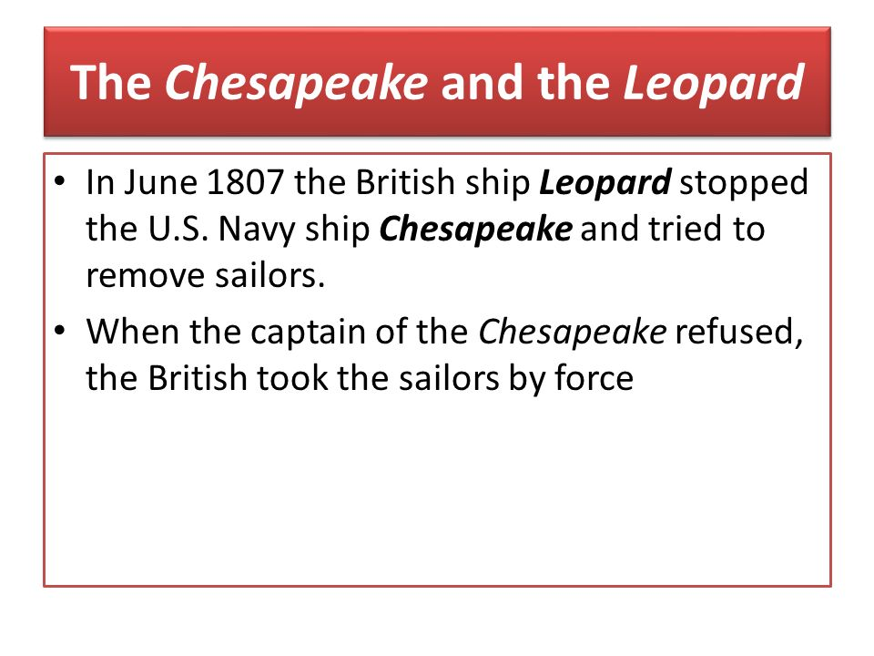 The Chesapeake and the Leopard