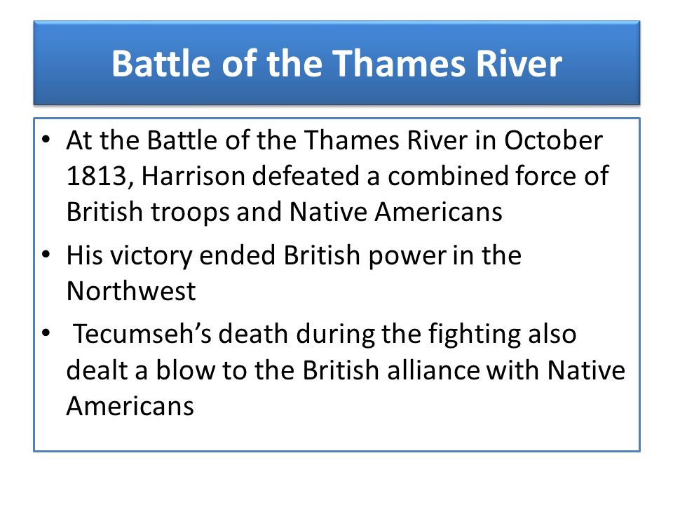 Battle of the Thames River