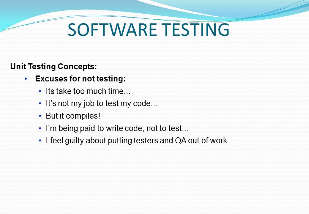 how to write code for unit testing
