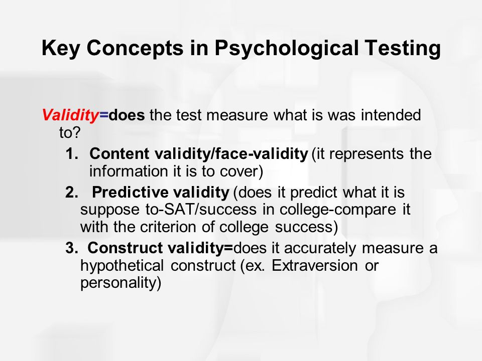 reliability in psychological testing pdf