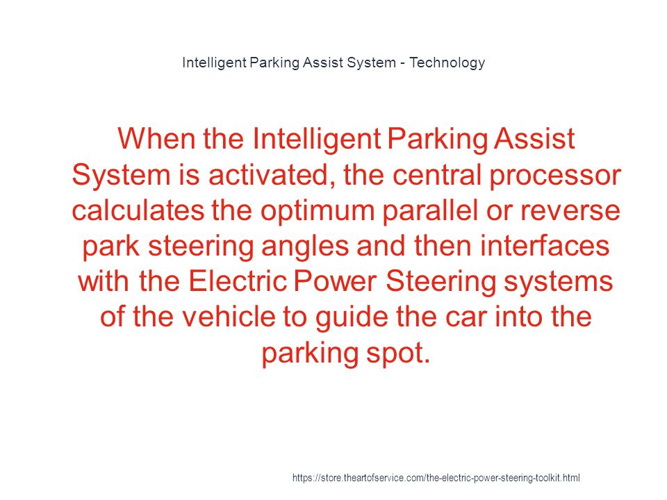 intelligent parking assistance system