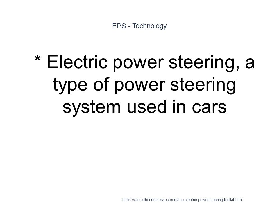electronic power steering system pdf