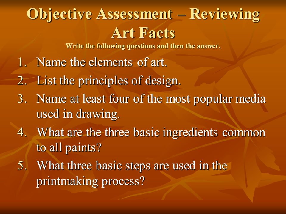 List The Elements Of Art : Chapter arttalk textbook ppt video online download