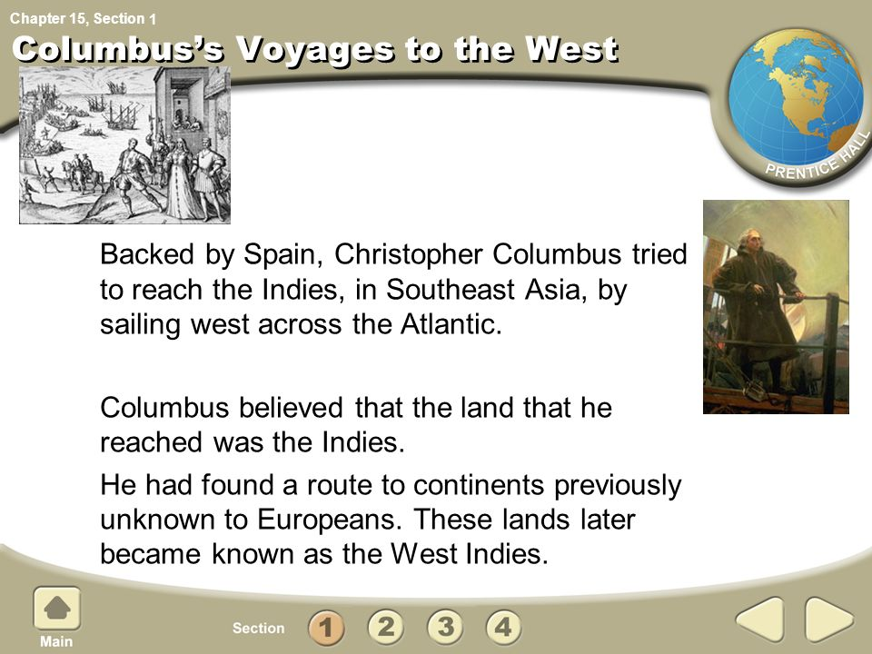 Columbus's Voyages to the West