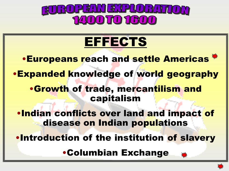 the effects of european exploration on the lives of american indians Ws/fcs unit planning organizer cultures, and everyday life of american how did european explorers and american indians.