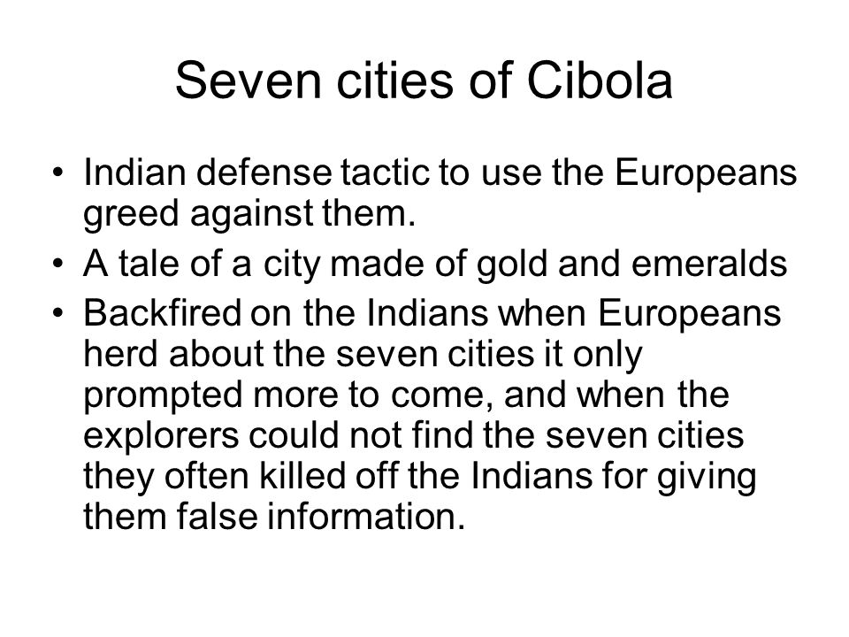 Discovery of the seven cities of Cibola,