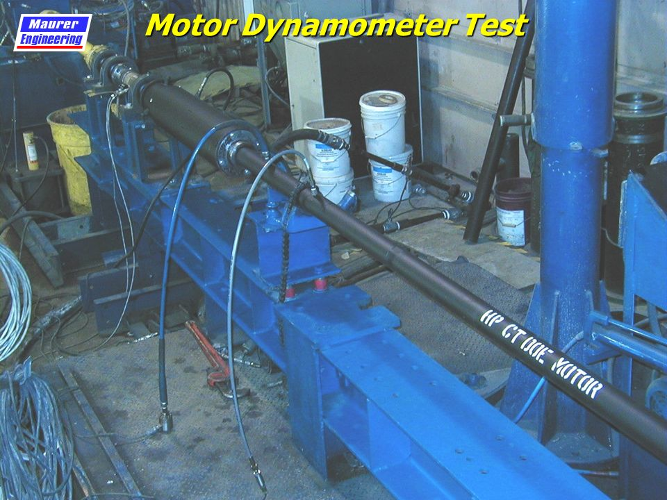 Laboratory testing of high pressure coiled tubing drilling for Dynamometer for motor testing