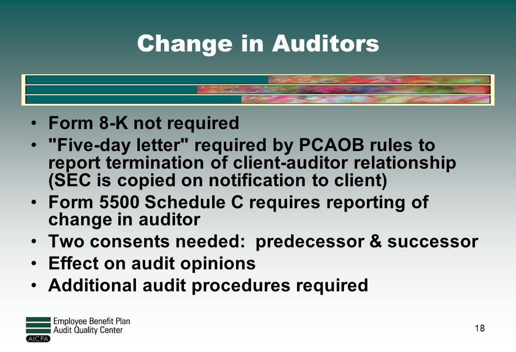 auditor predecessor successor And request that the predecessor auditor be informed if the prior period financial statements are amended, and the predecessor auditor agrees to issue a new.