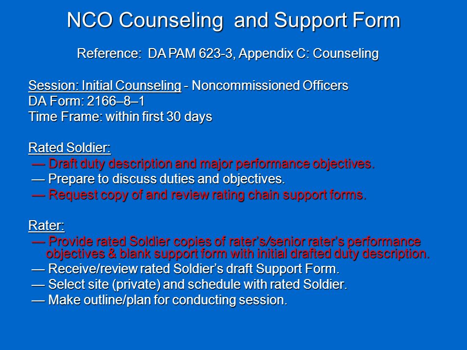 nco counseling