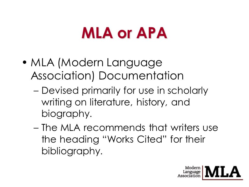 the modern language association mla a guideline for documentation style Mla style introduction these owl resources will help you learn how to use the modern language association (mla) citation and format style this section contains resources on in-text.