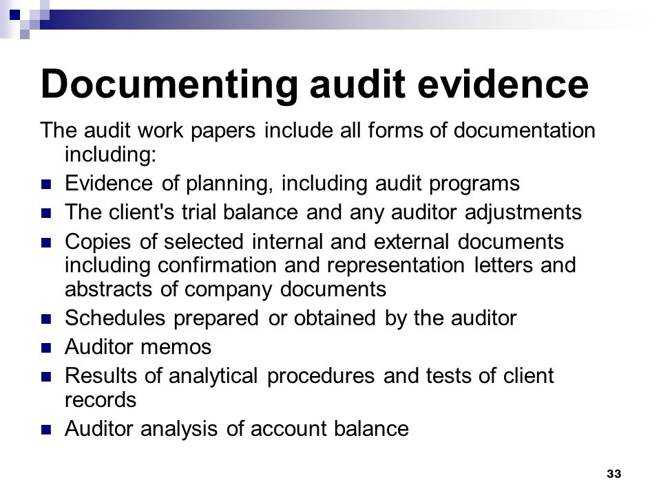 Chapter 7 Audit Evidence: A Framework For Directly Testing Account