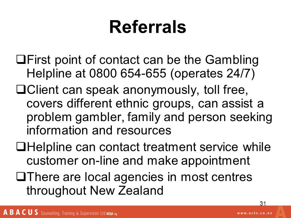 Problem gambling helpline nz