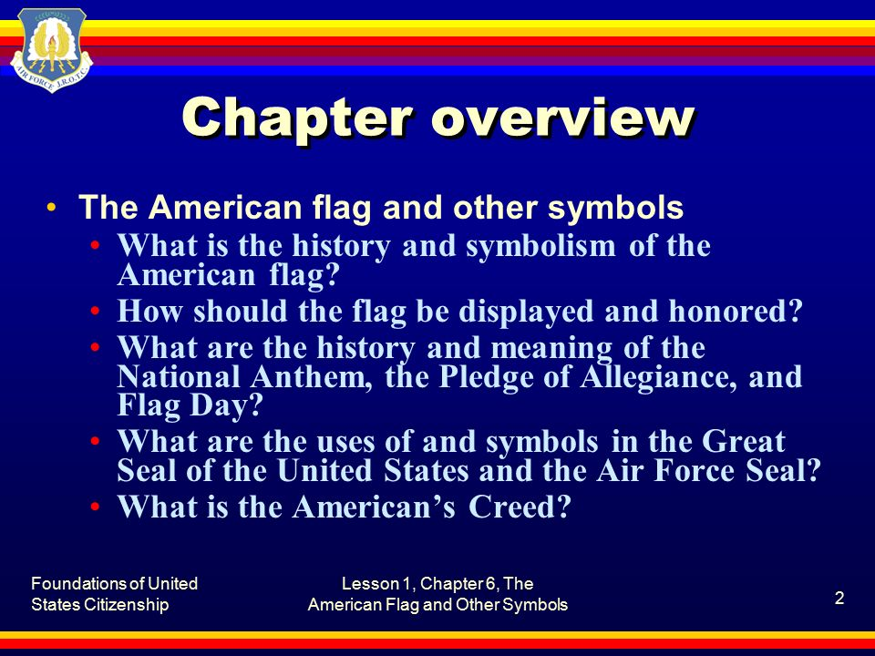 The American Flag And Other Symbols Ppt Download
